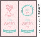 valentines day card with love.... | Shutterstock .eps vector #217860490
