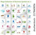mega collection of vector logo...   Shutterstock .eps vector #217860856