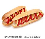 Stock photo two hot dogs 217861339