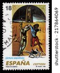 spain   circa 1994  a stamp... | Shutterstock . vector #217864069