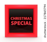 christmas special square icon... | Shutterstock . vector #217865794