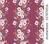 flowers seamless garland   Shutterstock . vector #217870516