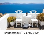 wonderful views  santorini | Shutterstock . vector #217878424