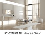 interior of modern white... | Shutterstock . vector #217887610