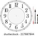 clock face template with hour ...   Shutterstock .eps vector #217887844