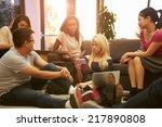 group of university students... | Shutterstock . vector #217890808