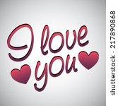 true love design   vector... | Shutterstock .eps vector #217890868