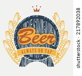 coat of arms with beer keg and... | Shutterstock .eps vector #217892038