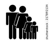 family icon design  vector... | Shutterstock .eps vector #217892134