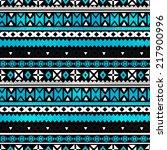 tribal art ethnic seamless... | Shutterstock .eps vector #217900996