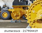 industrial heavy machinery assembling workshop on production line manufacturing factory - stock photo