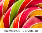 Macro Of Colorful Lollipop...