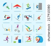extreme sports icons of diving... | Shutterstock .eps vector #217910380