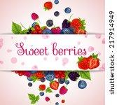 natural organic sweet fresh... | Shutterstock .eps vector #217914949
