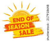 end of season sale banner  ... | Shutterstock . vector #217918648