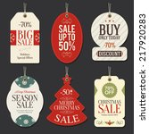 retail sale tags and clearance... | Shutterstock .eps vector #217920283