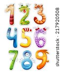 colorful cartoon numbers for... | Shutterstock .eps vector #217920508