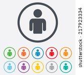 user sign icon. person symbol.... | Shutterstock . vector #217923334