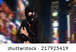 thief escaping in the night  | Shutterstock . vector #217925419