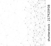 molecule structure  gray...   Shutterstock . vector #217925938