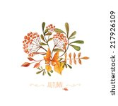 Watercolor Autumn Bouquet With...