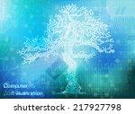vector illustration circuit... | Shutterstock .eps vector #217927798