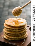 Stack Of Delicious Pancakes An...