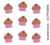 chocolate cupcakes | Shutterstock . vector #217945846