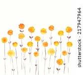 dandelions. yellow flowers....   Shutterstock .eps vector #217947964
