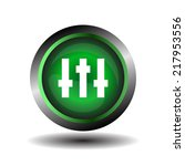 equalizer green circle icon...   Shutterstock .eps vector #217953556