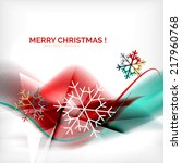 red color christmas blurred... | Shutterstock .eps vector #217960768