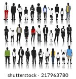 silhouettes group of people in... | Shutterstock .eps vector #217963780
