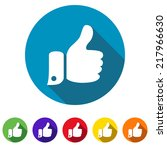 thumbs up web icon | Shutterstock . vector #217966630