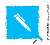 beautiful pen web icon | Shutterstock . vector #217969186