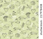 kitchen seamless pattern with a ...   Shutterstock .eps vector #217978438