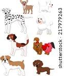 cartoon dog collection   Shutterstock .eps vector #217979263