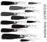 set of grunge brush strokes | Shutterstock . vector #217987219
