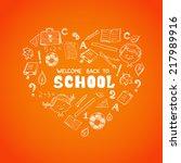 school objects in the shape of... | Shutterstock . vector #217989916