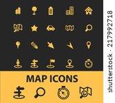map icons set  vector | Shutterstock .eps vector #217992718