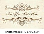 elegant text frame. | Shutterstock .eps vector #21799519