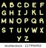 neon alphabet  | Shutterstock . vector #217996903