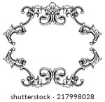 vector floral frame for page... | Shutterstock .eps vector #217998028