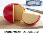 Edam Cheese And A Piece On A...