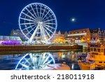 gdansk  poland   5 september... | Shutterstock . vector #218011918