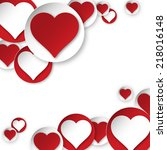 heart background | Shutterstock . vector #218016148