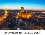 Old Town Of Gdansk With City...