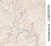 realistic topographic map of an ...