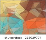abstract geometric background... | Shutterstock .eps vector #218029774
