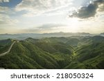 beijing great wall in china ... | Shutterstock . vector #218050324