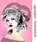 floral girl | Shutterstock .eps vector #21805399